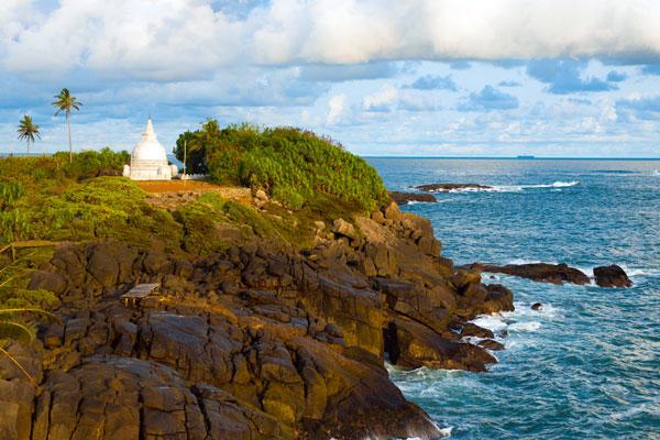Unawatuna på Sri Lanka fra en smuk side