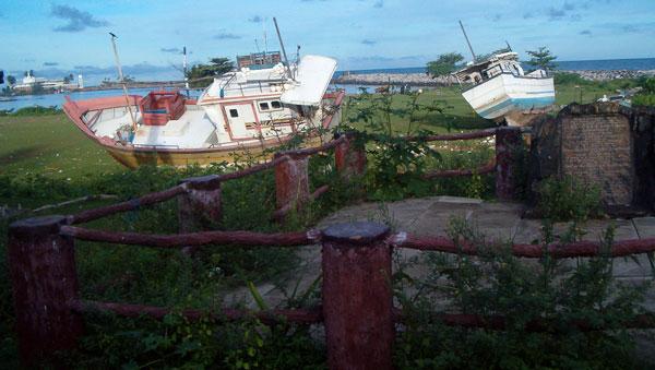 Tsunamien ramte også Sri Lanka hårdt i 2004