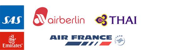 Udvalgte flyselskaber der flyver til Sri Lanka