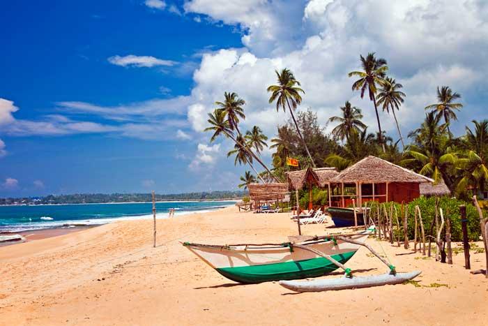 En typisk stand på Sri Lanka