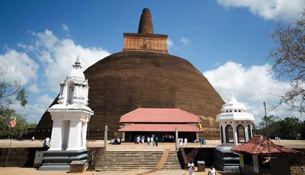 Abhayagiri Monastery ved Anuradhapura på Sri Lanka
