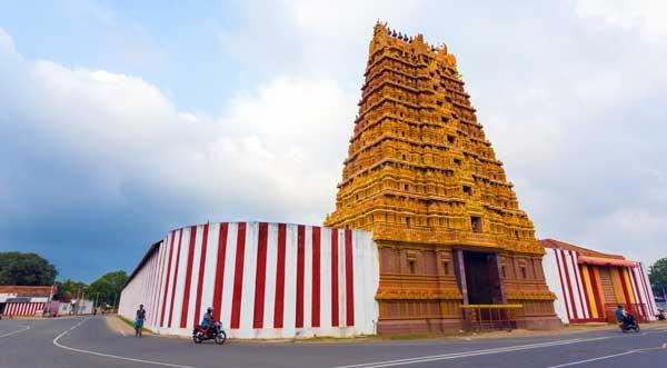 Nallur Kandaswamy Kovil i Jaffna på Sri Lanka