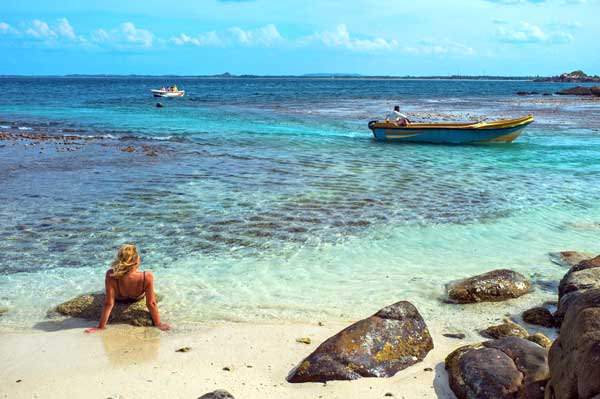 Naturreservatet Pigeon Island med forrygende dykning og snorkling og kridhvidt pulversand
